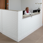 Corian White Reception Desk in Pattern
