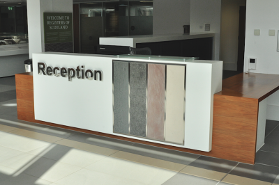 how to design a reception desk and what to consider how to