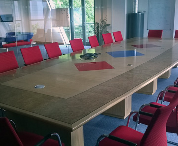 Conference Table - Red conference table